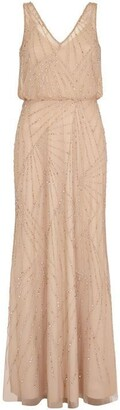 Adrianna Papell Sleeveless Beaded Dress