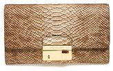 'Gia' Python Embossed Clutch