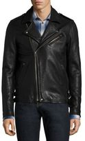 IRO Zip Front Lambskin Leather Jacket