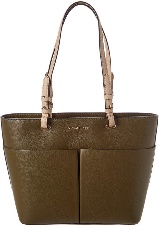 MICHAEL Michael Kors Medium Bedford Leather Pocket Tote