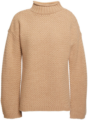 Theory Basketweave Cashmere And Merino Wool-blend Sweater