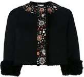 RED Valentino embroidered cropped jacket