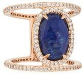Henri Bendel Lapis Lazuli & Crystal Ring