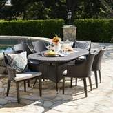 Bronx Ivy Backlund Outdoor Wicker 7 Piece Dining Set with Cushions Ivy Color: Brown