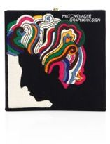 Olympia Le-Tan Turn On, Tune In, Drop Out Milton Glaser Square Clutch