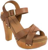 Pierre Dumas Brown Ankle-Strap Riply Sandal