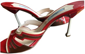 Prada Flame Red Patent leather Sandals