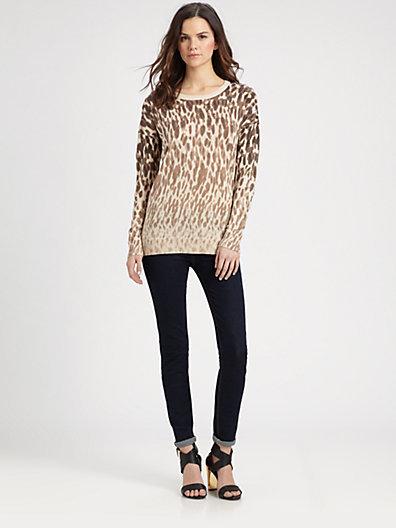 DKNY Animal-Print Sweater