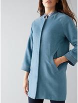 Nümph Maryl Wool-Blend Coat, Bluestone