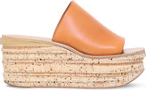 Chloé Camille leather platform wedge mules