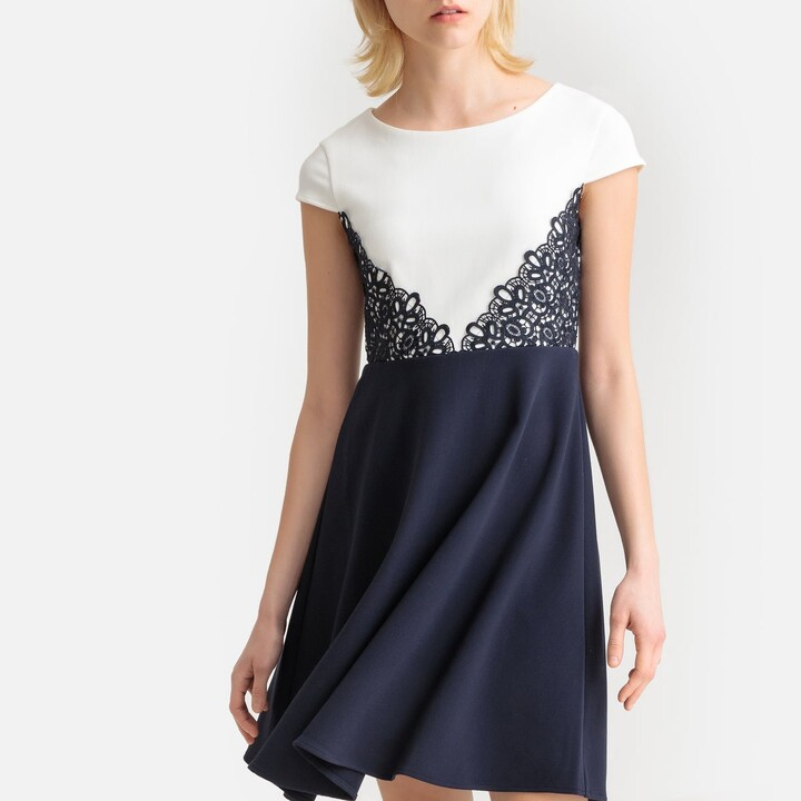 Thumbnail for your product : Esprit Flared Cocktail Dress with Embroidery