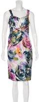 David Meister Silk Printed Dress