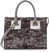 Charles Jourdan Niko 2 Satchel Bag, Gray/Floral