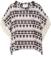 Thakoon Addition Fringed Hooded Cotton-Blend Tweed Top