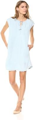 Splendid Women's Drop Shoulder Dress Indigo Crosshatch