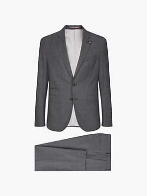 Tommy Hilfiger Stretch Wool Slim Fit Two Piece Suit, Ash Melange