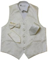 Porto filo paisley design 4 pcs set men's tuxedo vest