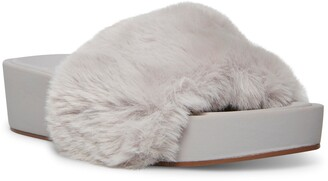STEVEN NEW YORK Raine Faux Fur Slide Sandal