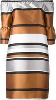 Blugirl ruffled sleeve metallic dress - women - Polyester - 42