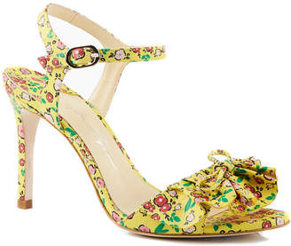 Isa Tapia Evie Floral-Print High-Heel Sandals