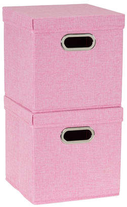 Household Essentials 2-Pc. Blush Storage Box Set