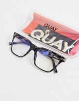 Thumbnail for your product : Quay CEO womens blue light glasses in black
