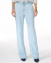 Wide Leg Chambray Pants - ShopStyle