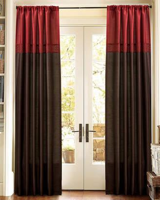 Triangle Home Fashion Geometrica Red Window Curtain Set