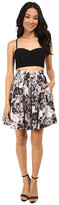 Aidan Mattox Bustier Top with Printed Party Skirt