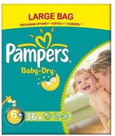 Pampers Baby Dry Size 6+ Extra Large Plus 17kg+