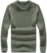 QZUnique Men's Casual Slim Fit Crew Neck Sweater Big and Tall 4XL