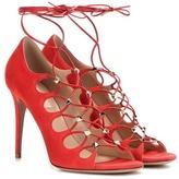 Valentino Garavani Rockstud Suede Lace-up Sandals
