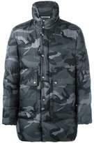 Moncler Gamme Bleu camouflage print coat