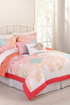Jessica Simpson King Sherbet Lace Comforter 3-Piece Set - Coral/White