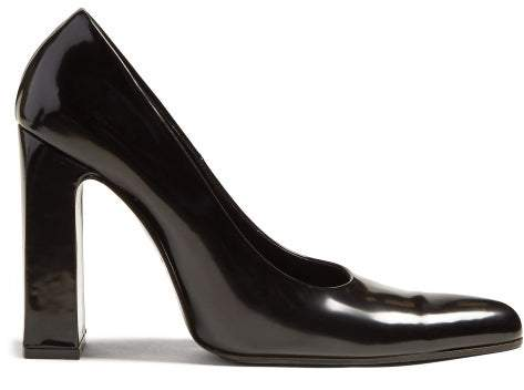 d540cd5cced Block Heel Leather Pumps - Womens - Black
