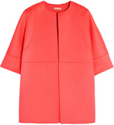 Michael Kors Brushed Wool, Angora And Cashgora-blend Jacket - Papaya
