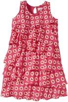 Masala Dotted Heart Dress (Toddler/Kid) - Grenadine-3 Years