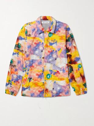 Comme des Garçons Shirt + Futura Printed Cotton-Poplin Jacket