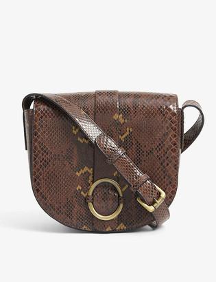 Sessun Tessao snakeskin-embossed leather cross-body bag