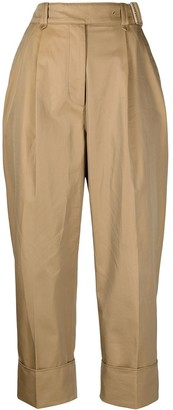 Acne Studios Belted Turn Up Cuff Trousers