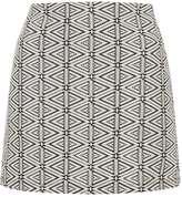 Topshop Triangle Jacquard A-Line Skirt