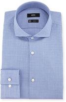 BOSS Plaid Slim-Fit Travel Dress Shirt, Blue
