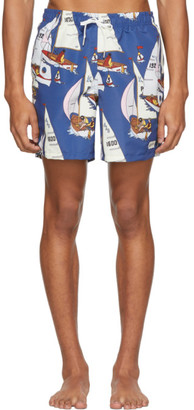 Bather Blue Afternoon Sail Swim Shorts
