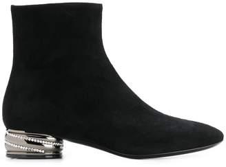 Casadei embellished heel ankle boots
