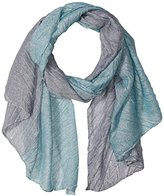 D&Y Women's Two Tone Metallic Pleat Scarf