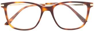Calvin Klein Tortoiseshell Square-Frame Glasses