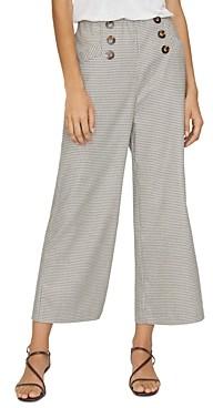Sanctuary Marina Button-Front Plaid Pants