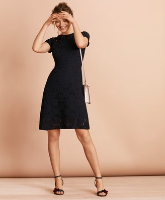 Brooks Brothers Floral Cotton Eyelet Dress