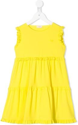 Il Gufo Sleeveless Tiered Dress