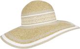 Accessorize Angelina Metallic Braid Floppy Hat